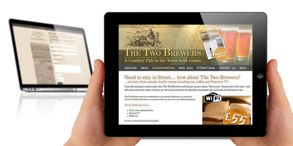 Responsive design website (The Two Brewers, Street)