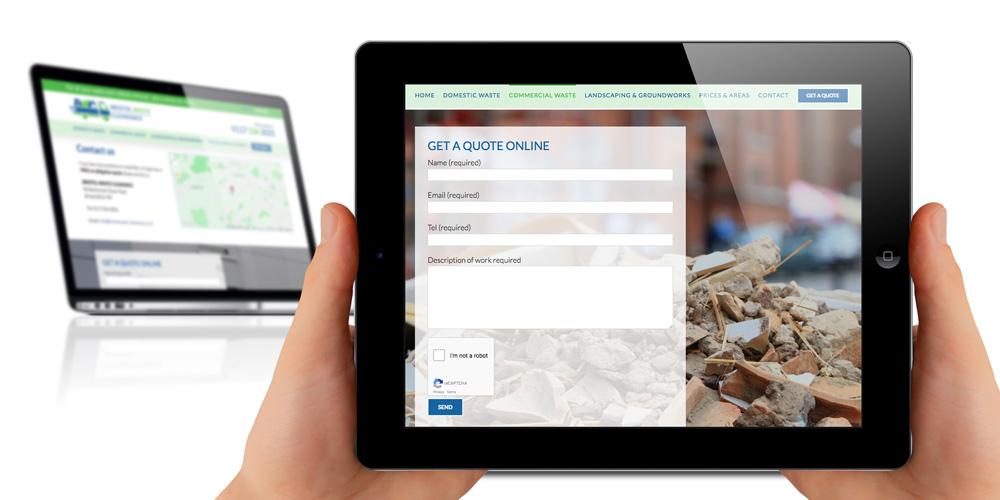Bristol based clearance company - ipad friendly website development