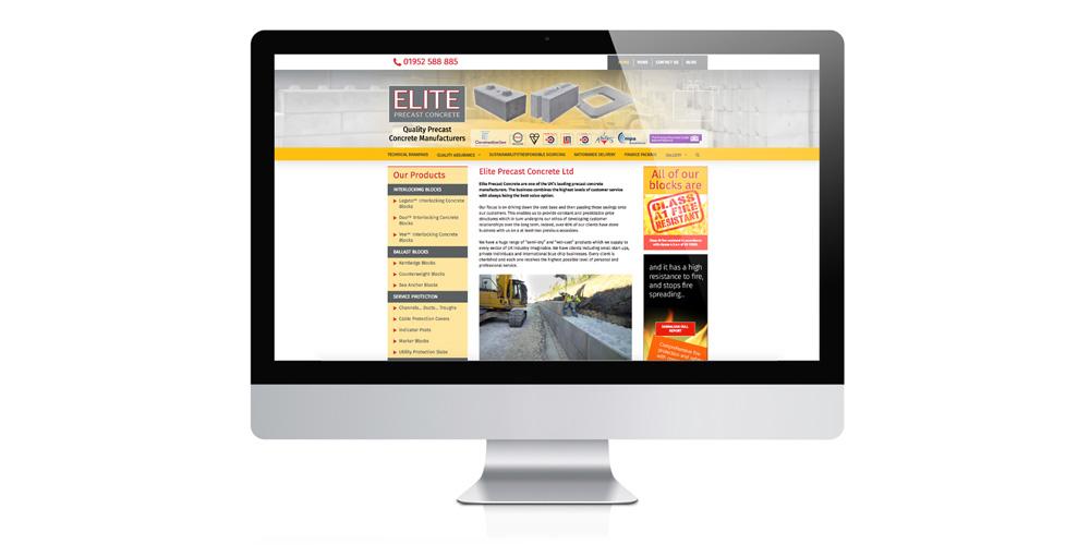 Wordpress website design for concrete manufacturer