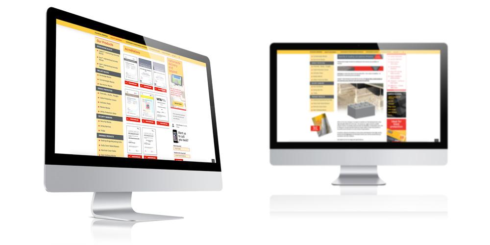 Concrete Manufacturer, fully responsive website design