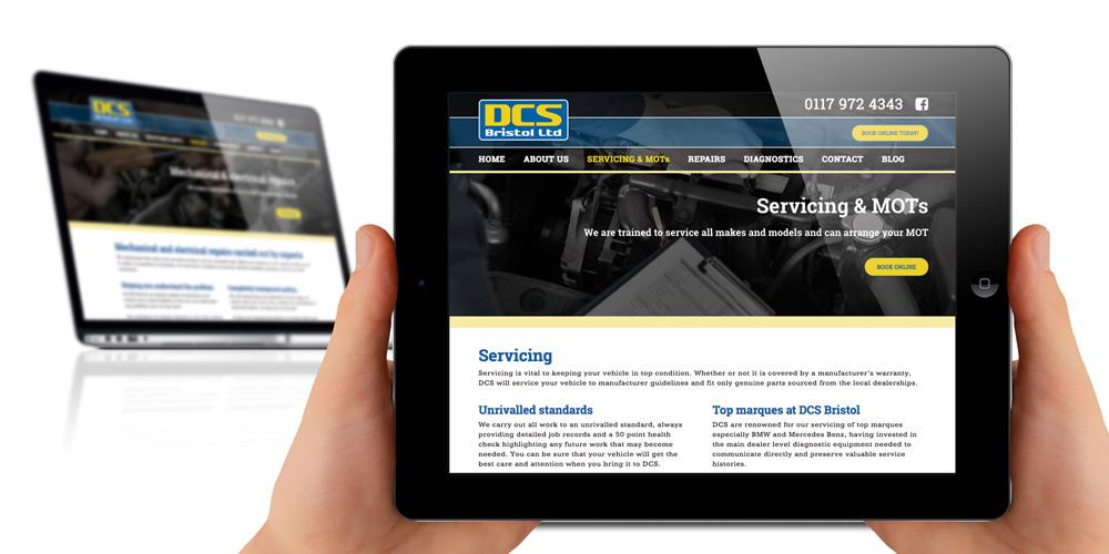 ipad friendly website design - DCS Bristol Ltd