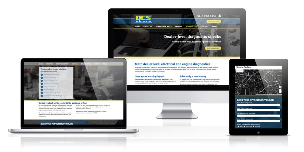 Responsive website design - Brislington based garage