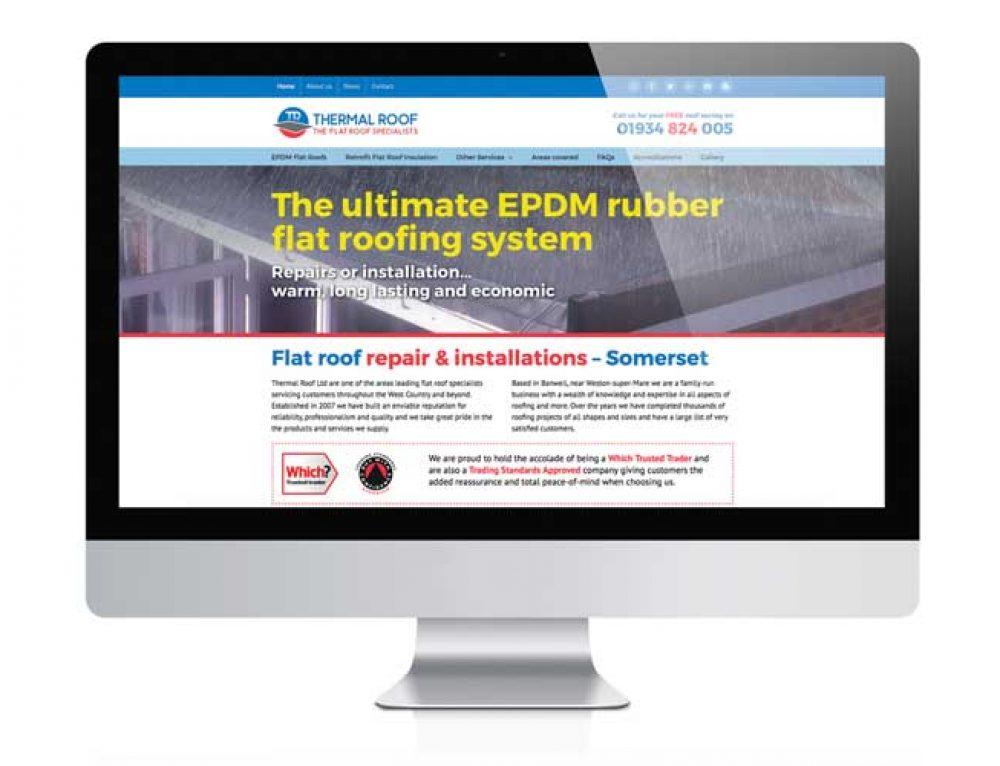 Thermal Roof Ltd Website Design Weston-super-Mare