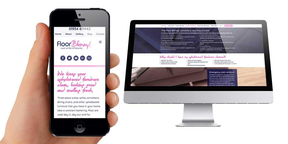 Floor Blimey Wordpress Website Design Weston Super Mare